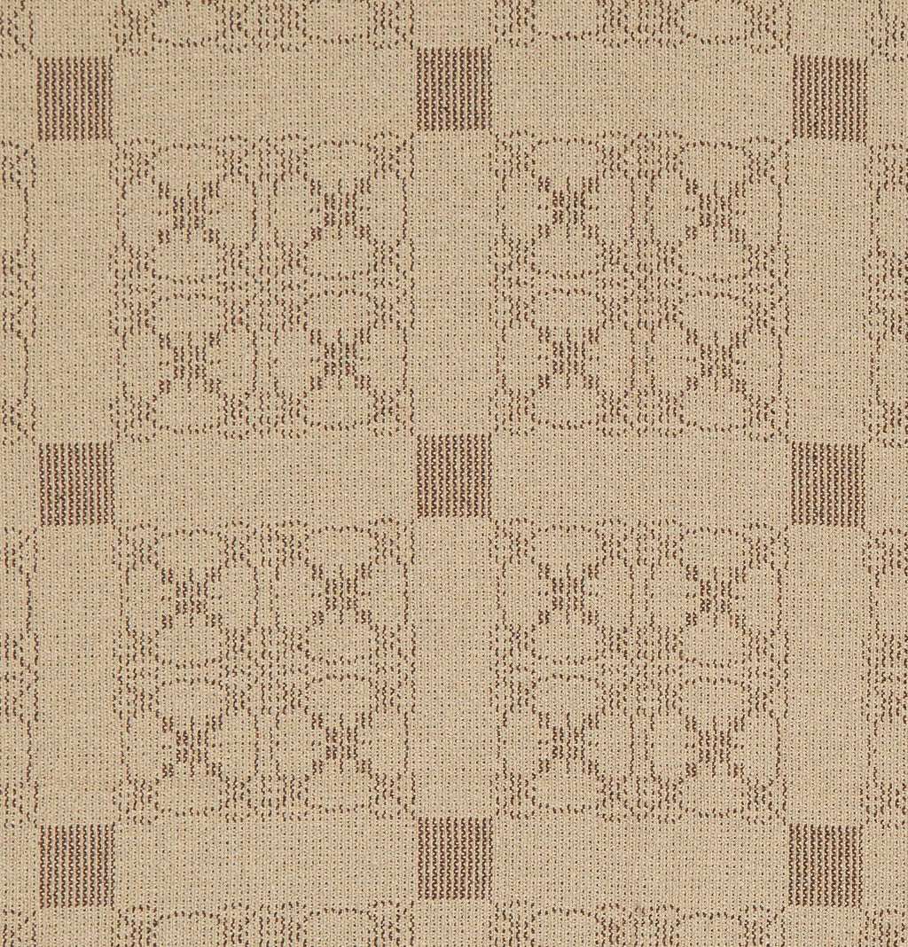 Carriage Wheel Long Table Runner in Brown with Wheat