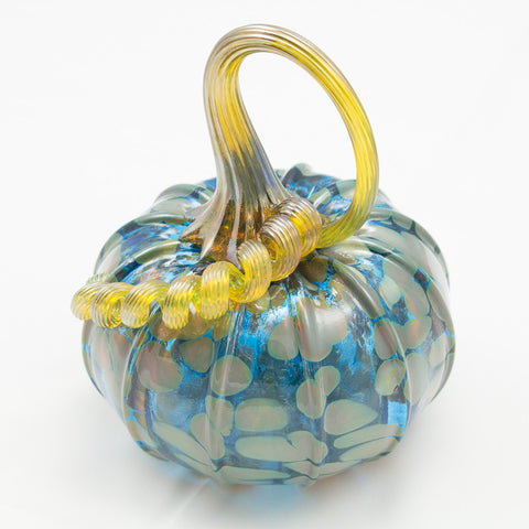 Handblown Glass Pumpkin in Fall