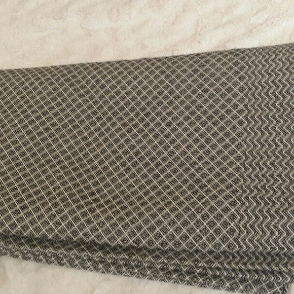 Diamonds and Chevron Queen Coverlet in Black