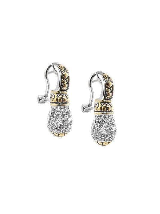 Briolette Pave Drop Post Clip Earrings by John Medeiros