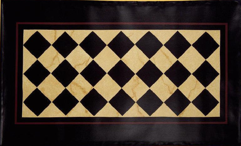 "Diamond Floorcloth with Border in Marble - Size 24"" x 36"""