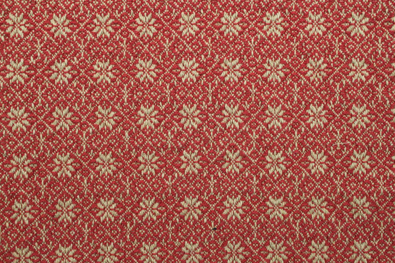 Primitive Star/Flourish Placemats in Red and Hemp - Set of 4