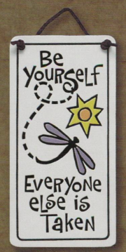 Be Yourself Charmer Ceramic Tile