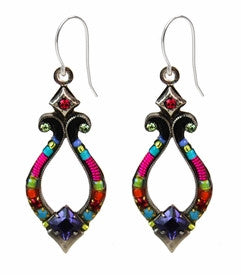 Multi Color Angels Harp Earring by Firefly Jewelry