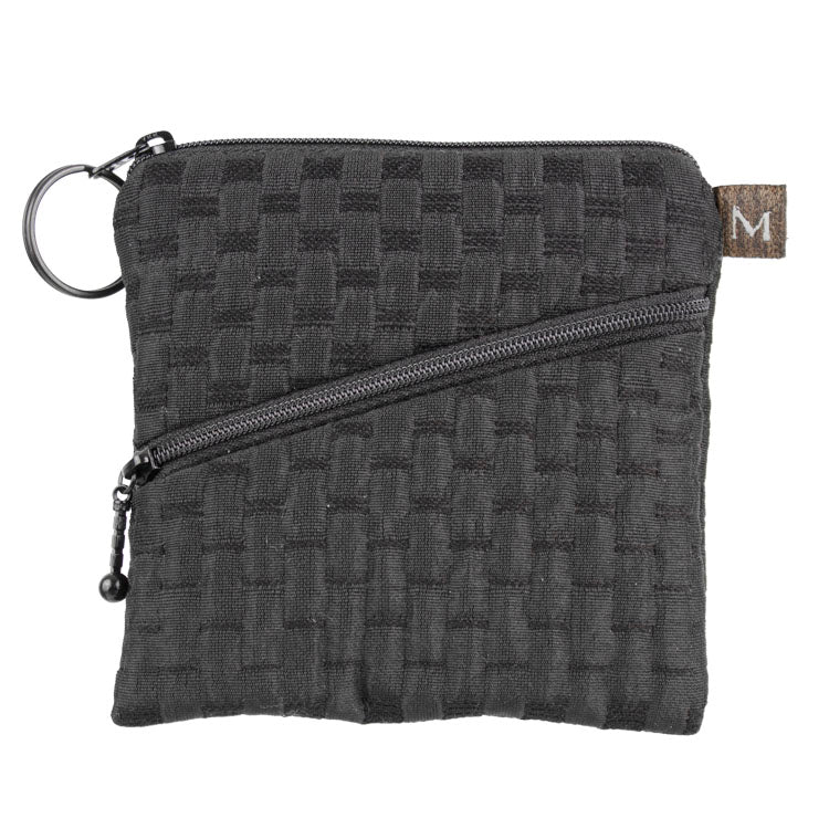 Maruca Roo Pouch in Waffle Black