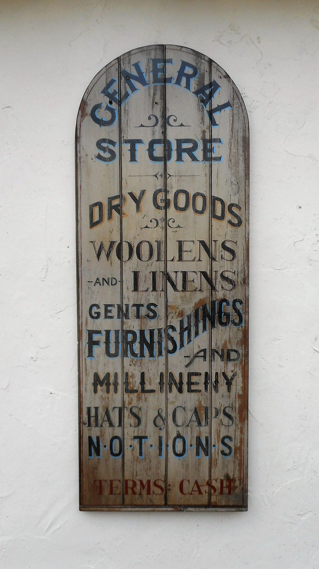 General Store Dry Goods Woolens and Linens (Arched and Vertical) Americana Art
