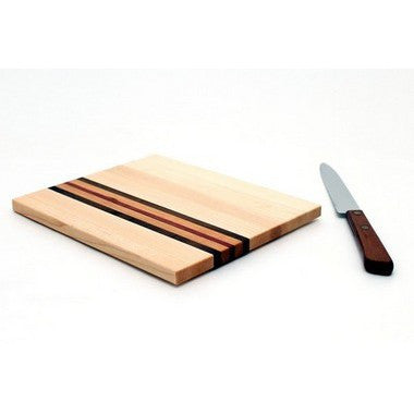 "Extra Large Striped Trivet in Maple - Size 6""x7"""