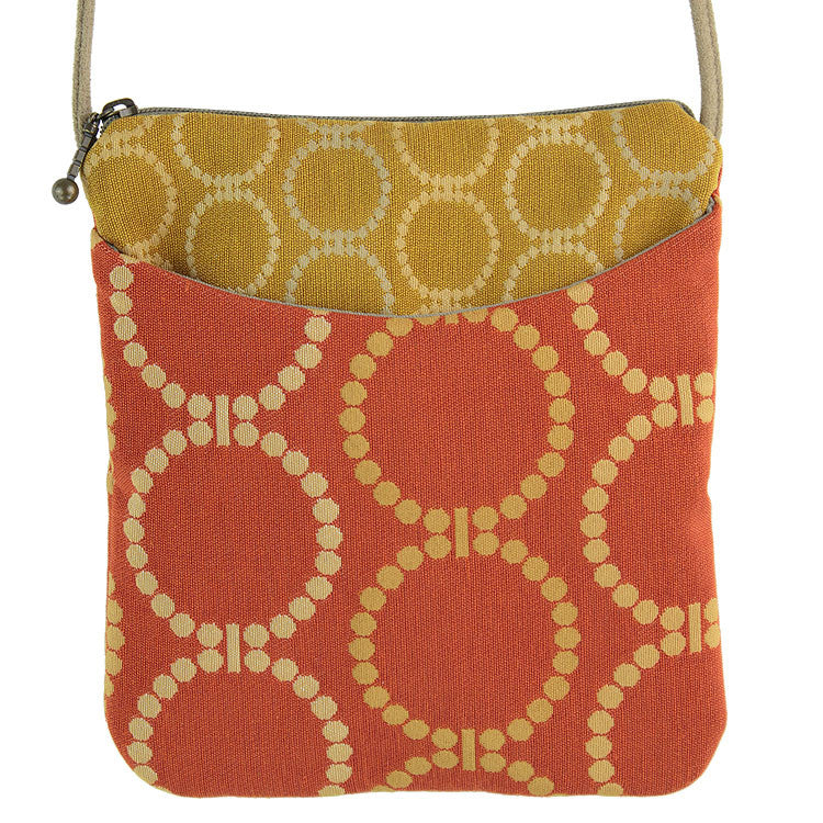 Maruca Cupcake Handbag in Linked Orange
