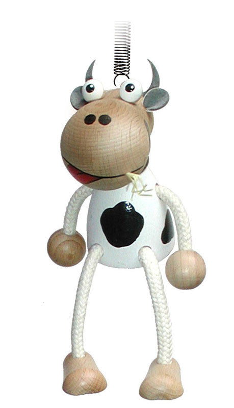 Cow Handcrafted Wooden Jumpie