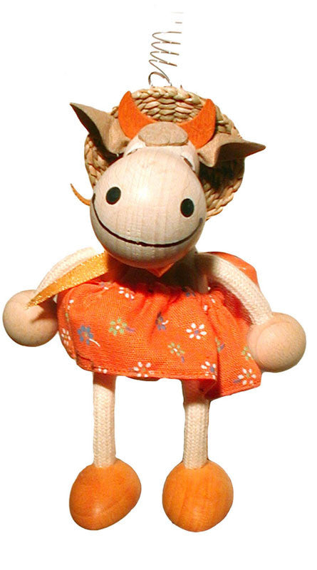 Cowgirl Orange Handcrafted Wooden Jumpie