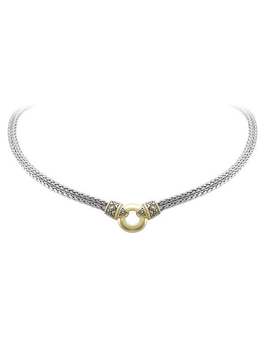 Antiqua Gold Circle Double Strand Necklace by John Medeiros