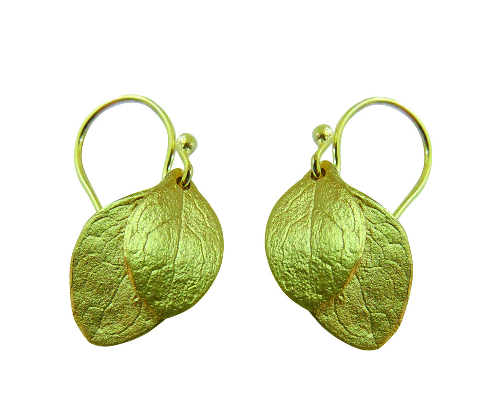 Irish Thorn 2 Leaf Earrings