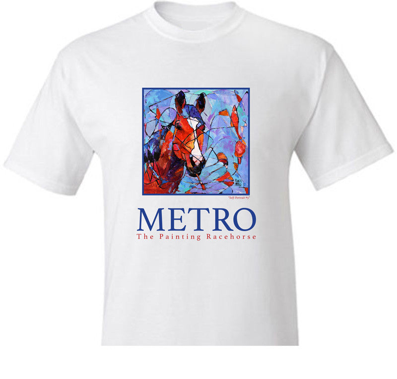 Metro the Painting Race Horse Self Portrait #5 T-Shirt