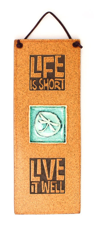 Life is Short Glass and Ceramic Tile
