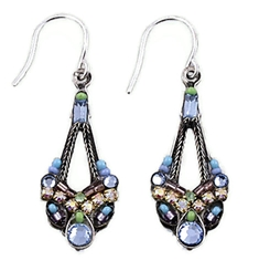 Light Blue Parisian Earrings by Firefly Jewelry