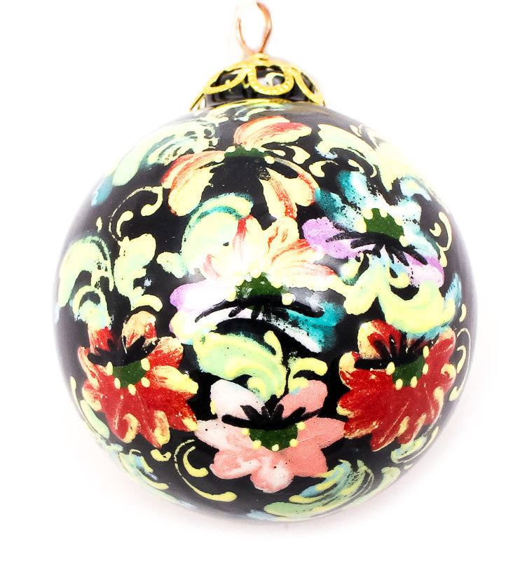 Wildflower Waltz Small Bulb Ceramic Ornament