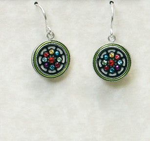 Multi Color Black and White Earrings by Firefly Jewelry