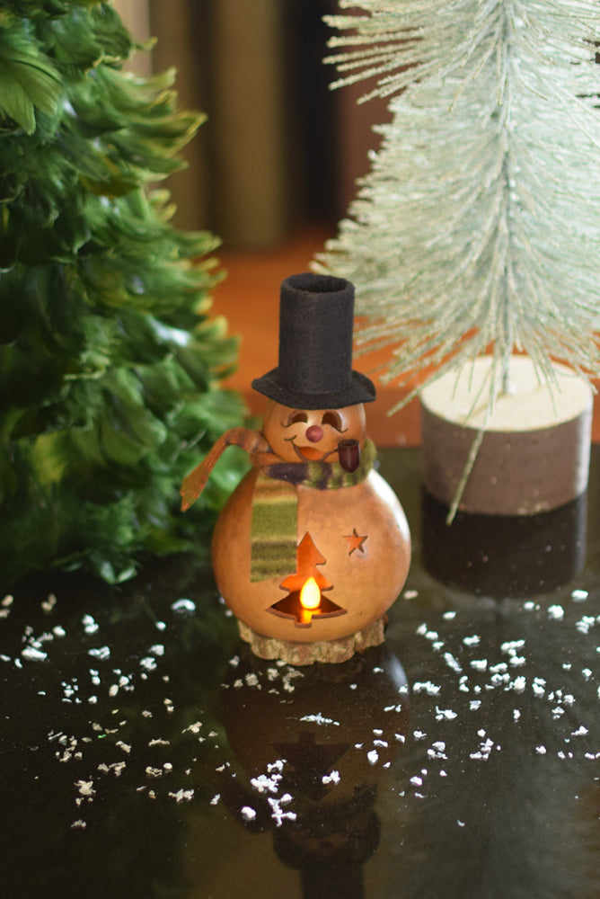 Brrr the Snowman Gourd - Available in Multiple Sizes