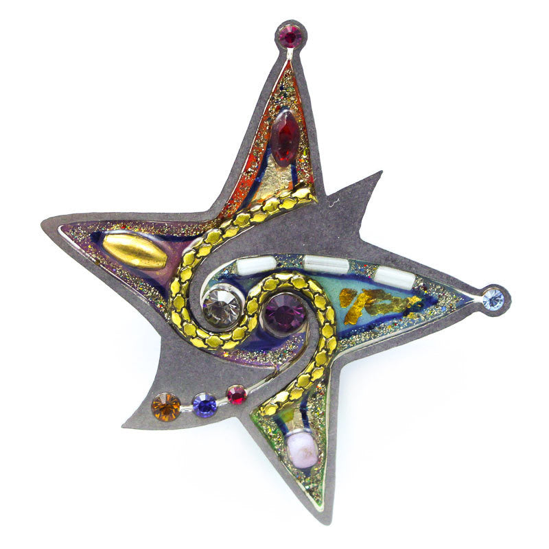 Exuberant Swirling Star Pin