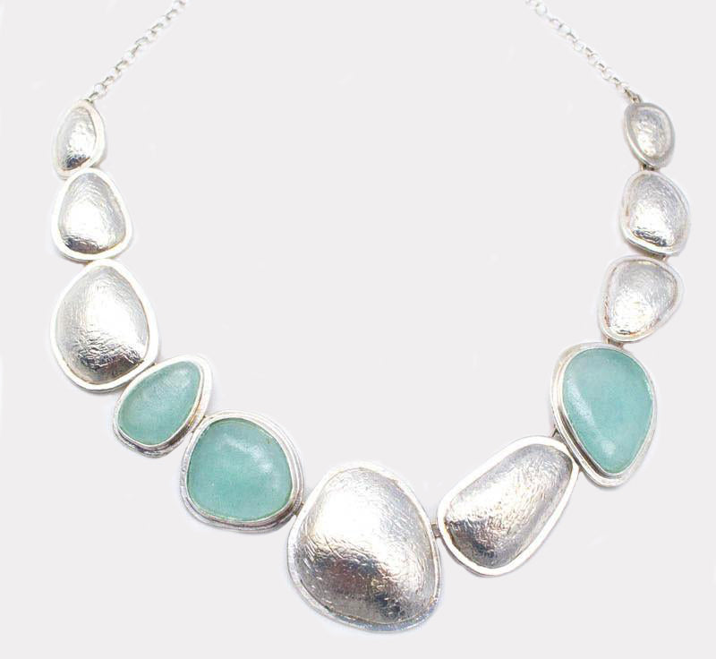 Pebble Beach Washed Roman Glass Necklace
