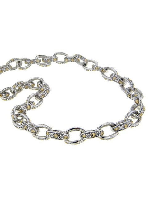 Two Tone Oval Link Necklace by John Medeiros