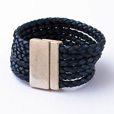 Bold Leather Bracelet
