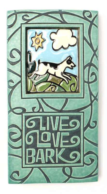 Live Love Bark Large Thick Ceramic Tile
