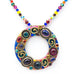 Confetti Hoop Multi Color with Beaded Necklace by Michal Golan