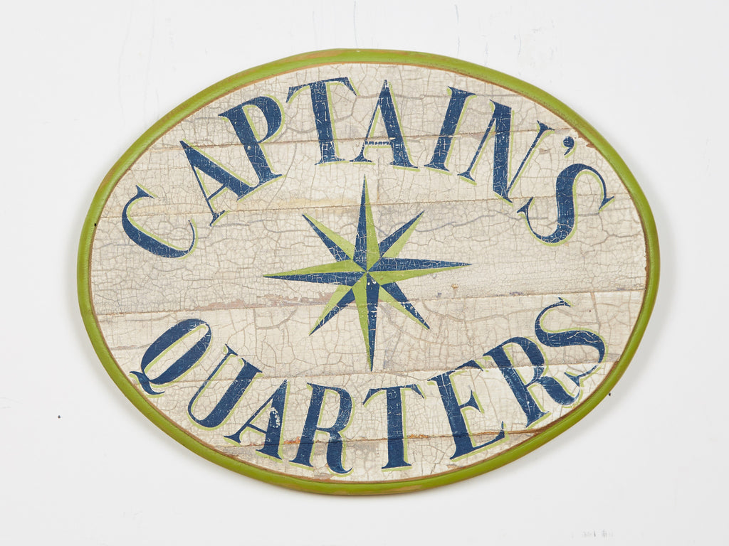 Captains Quarters in Green (Oval) Americana Art