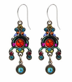 Multi Color Mini Round Chandelier Earrings by Firefly Jewelry