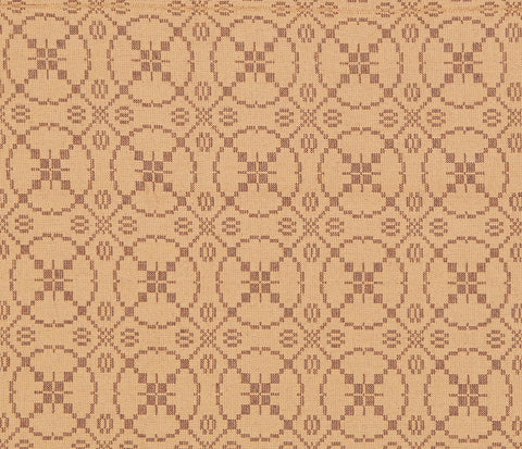 Curious Apprentice King Coverlet in Brown with Tan
