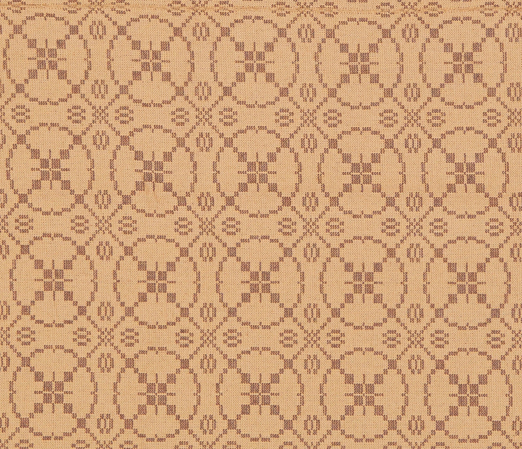 Curious Apprentice Long Table Runner in Brown with Tan