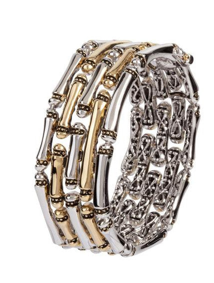Canias Collection Large 5 Row Hinged Bracelet by John Medeiros