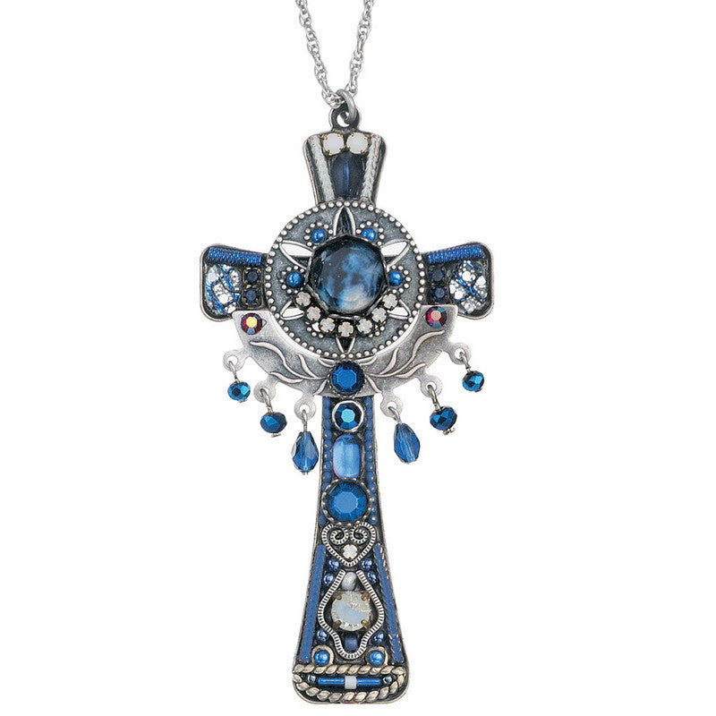 Blue Skies Extra Large Cross Necklace by Ayala Bar