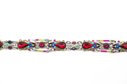 Multi Color Scarlet Camelia Bracelet by Firefly Jewelry