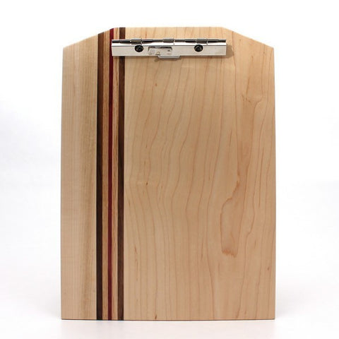 "Standard Striped Clipboard in Maple - Size 9""x13"""