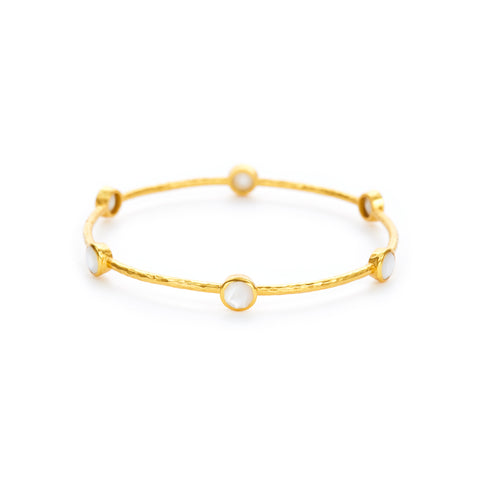 Milano Bangle Gold Mother of Pearl - Medium by Julie Vos