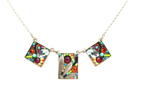 Multi Color Luxe 3-Piece Necklace by Firefly Jewelry
