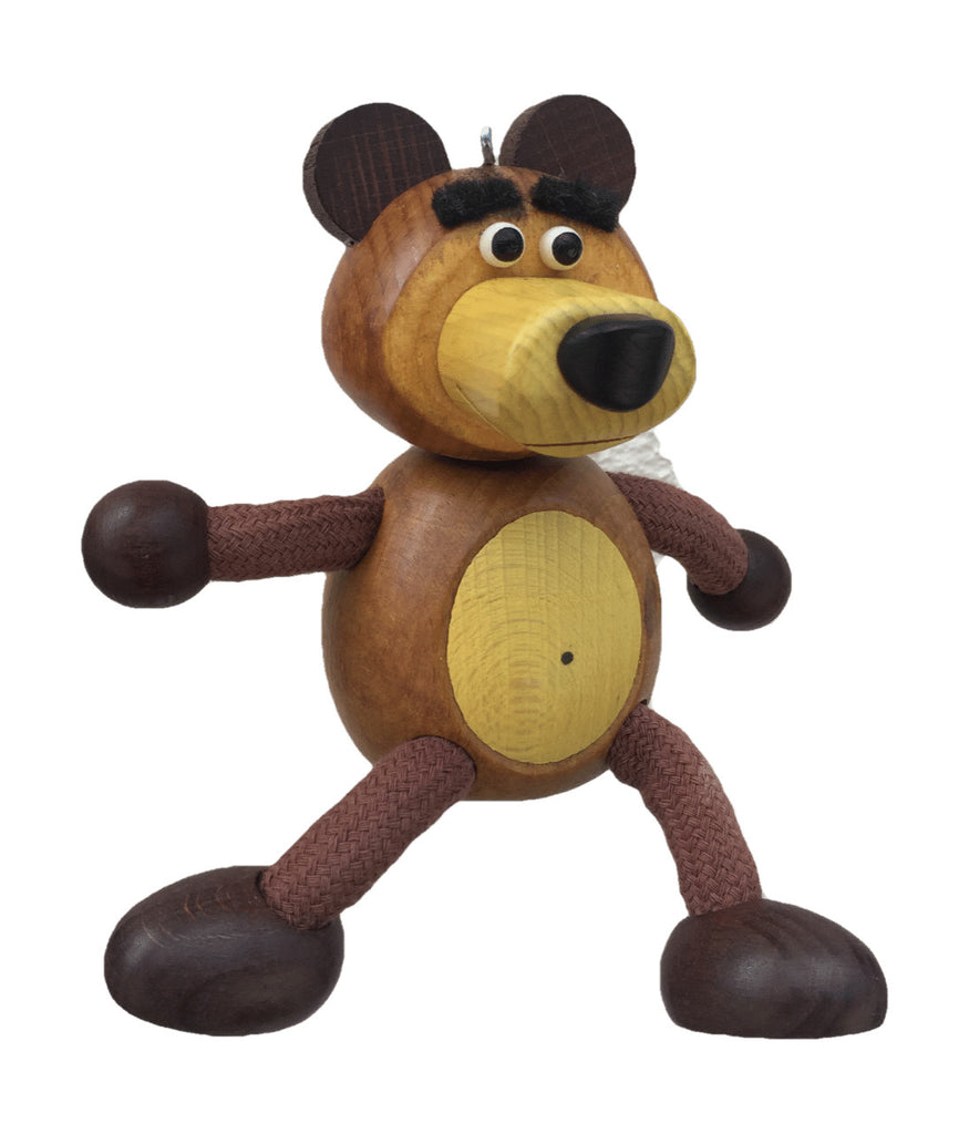 Bear with Yellow Nose and Tummy Handcrafted Wooden Jumpie