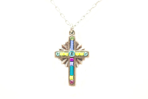 Light Turquoise Petite Cross by Firefly Jewelry
