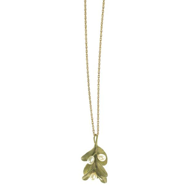Boxwood Pendant 16 inch Necklace by Michael Michaud