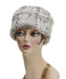 Khaki Luxury Faux Fur Cuffed Pillbox Hat