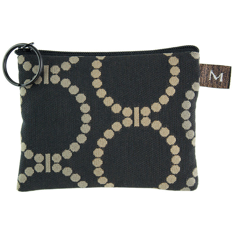 Maruca Coin Purse in Linked Black