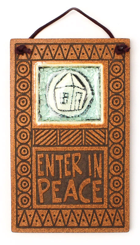 Enter in Peace Glass and Ceramic Tile