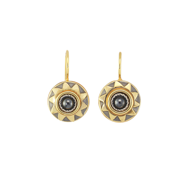 Large Sunshine Earrings in Black