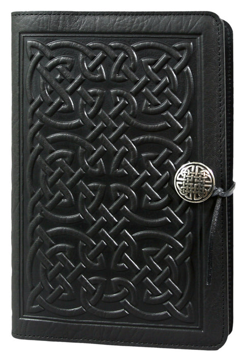 Small Leather Journal - Bold Celtic in Black