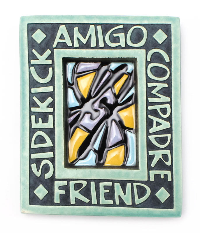 Friend Small Thick Ceramic Tile