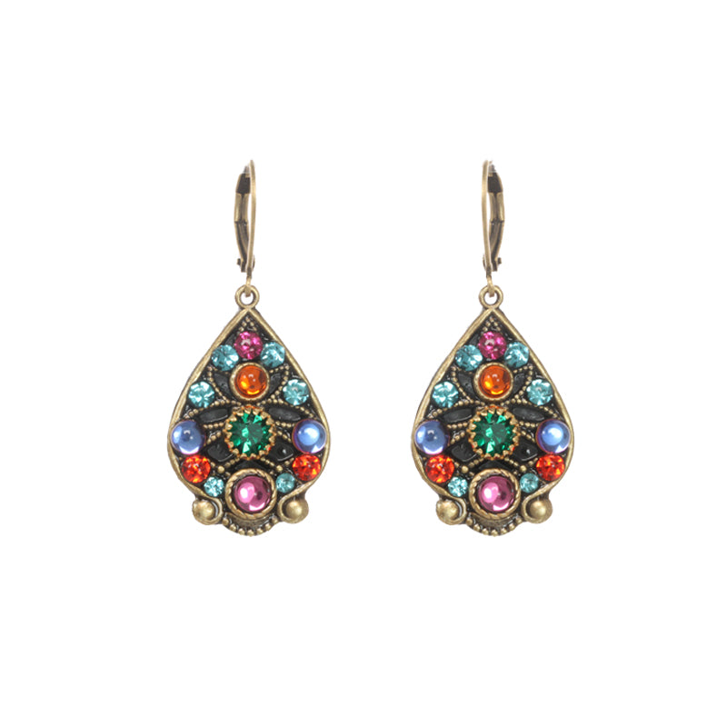 Prismatic Wide Teardrop Earrings