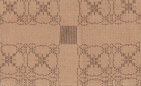 Carriage Wheel Placemats in Tan and Brown