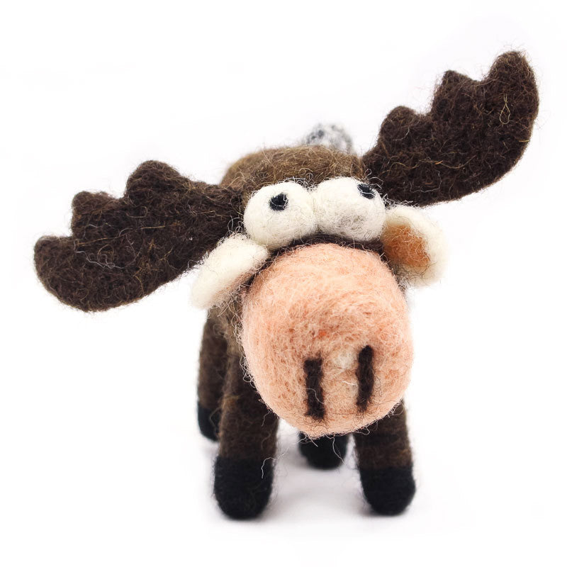 Moose Woolie Ornament
